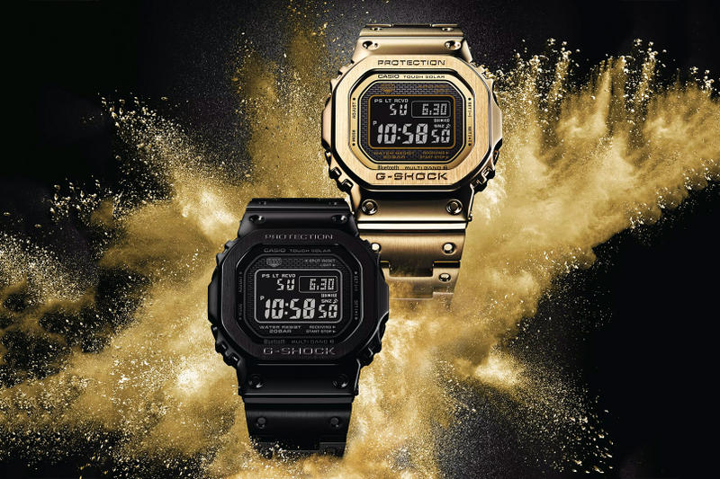 "casio G-SHOCK ""Full Metal"" 5000 Collection New Models black gold gmw-b5000"