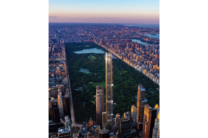 New York Central Park Tower tallest residential building manhattan billionaire's row architecture design