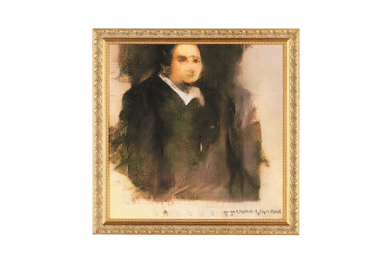 Christie's Auctions AI Art of Edmond de Belamy auctions sale artwork science painting canvas Obvious Art Paris