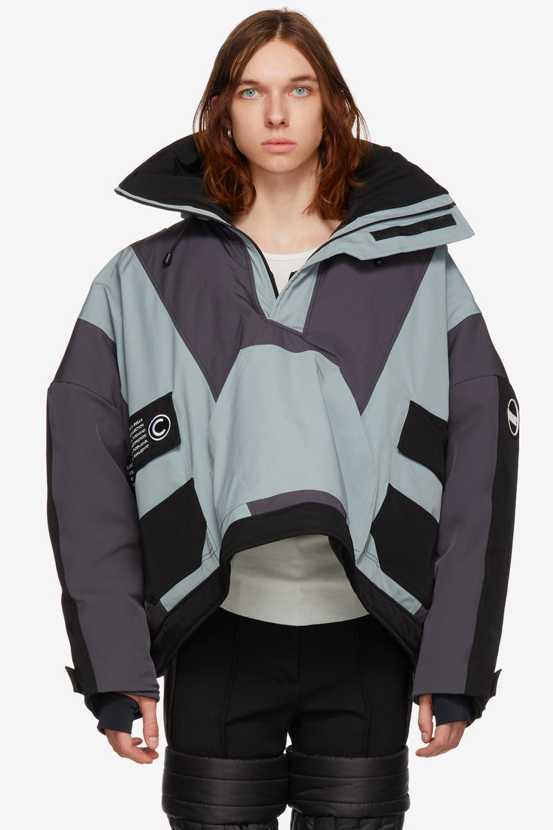 Colmar A.G.E. by Shayne Oliver FW18 Outerwear Fall Winter 2018 Quilter Trousers Tyvek Concept Coat Villa Ski Hoodie Christye Jacket Shell Vest Long Down Pink Yellow Green Grey Hood By Air