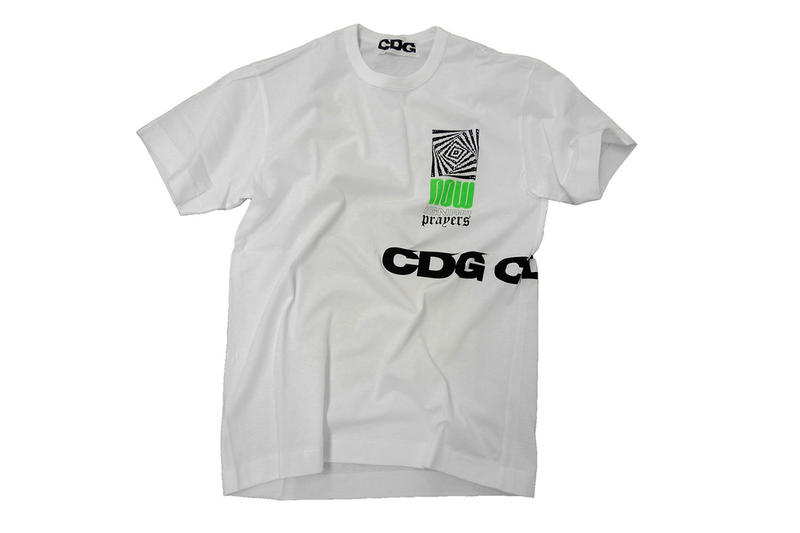 comme des garcons cdg collaboration ignored prayers web store launch international global worldwide release november 1 2018 drop info buy sell purchase tee