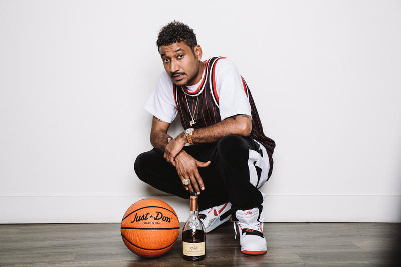 "Don C x Rémy Martin ""Just Rémy"" Collection cognac 1738 sneaker box basketball laces liquor collaboration"