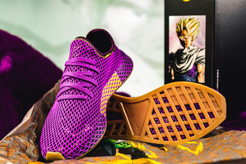 ee9cfbffefd7 adidas originals dragon ball z collaboration prophere deerupt son gohan  cell sneaker shoe model release date