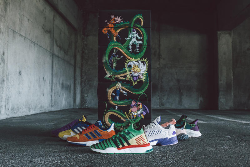 huge selection of eede8 3fbeb Dragon Ball Z x adidas Full Collection BAIT sneaker release date info ZX  500