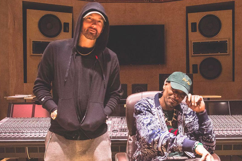 Eminem & Snoop Dogg Reunite in the Studio upcoming collaboration studios albums music Detroit