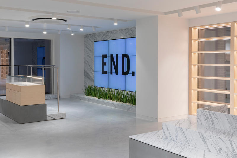 END. London Flagship store launch opening images retail shops