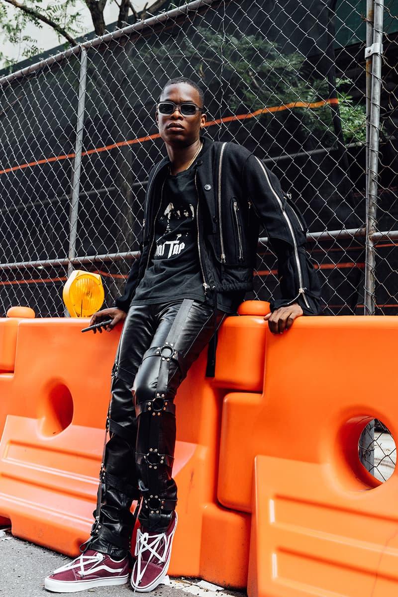 ev bravado streetsnaps style interview outfit dries van noten sean clay rumors of war king combs virgil abloh heron preston noir bondage leather vans custom diy collection handmade vintage