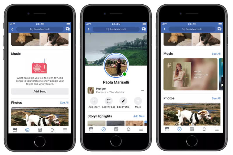 Facebook Music Feature Photos Videos Integration Instagram