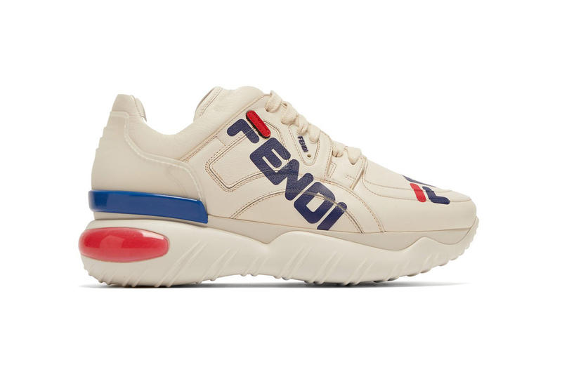 acd55c92f558 fendi fila mania logo leather sneaker 2018 footwear
