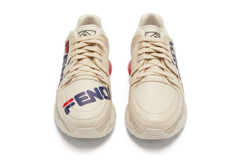 fendi fila mania logo leather sneaker 2018 footwear