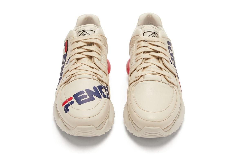 el viento es fuerte Banquete anfitriona  Fendi x Fila Mania Logo Sneaker Now Available | HYPEBEAST