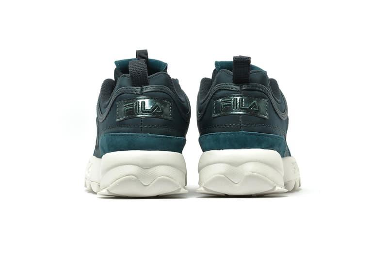 "FILA Disruptor Satin Low ""Atlantic Deep"" Release date info price purchase sneaker colorway"