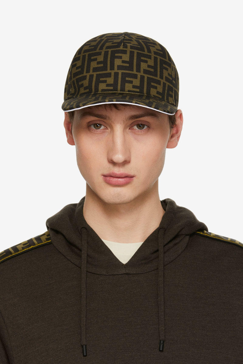 Forever Fendi Monogram Cap Release Brown White Black Tobacco Hat