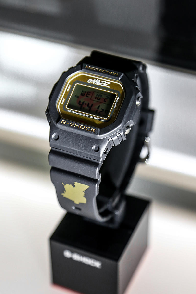 Gorillaz Casio G-Shock Collaboration London Store Inside Pop Up Installation Watches Cop Purchase Buy Collaborations exclusive timepiece october 25 2018