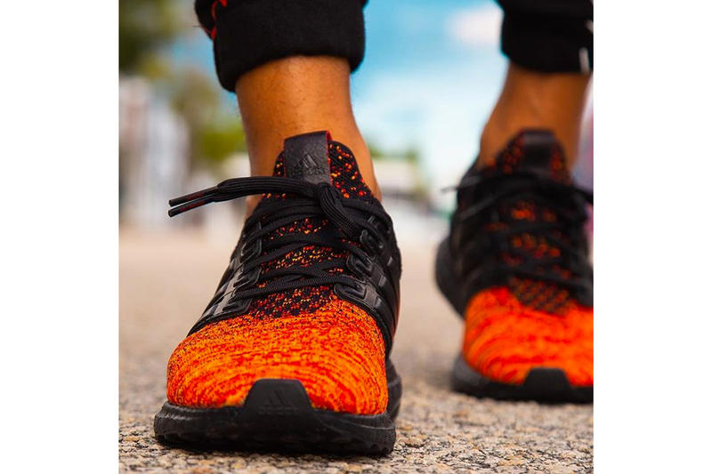 'Game of Thrones' x adidas UltraBOOST Images house targareyn dragons sneakers collaboration release date info colorways black red orange