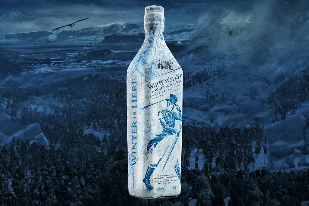 """Johnnie Walker & 'Game of Thrones' Connect for New """"White Walker"""" Whisky"""