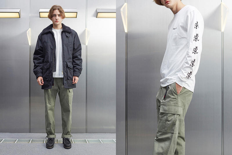 Gramicci Fall Winter 2018 Lookbook mastermind WORLD Collab Streetwear Lookbook Collection