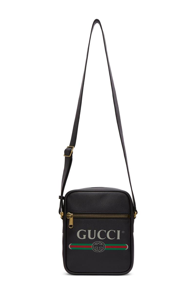 Gucci Logo Messenger Bag Release Date info Off White Vintage ivory leather black
