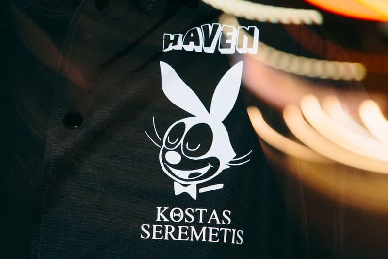 HAVEN Kostas Seremetis Collab Capsule coach jacket pullover hoodie t shirt 6 panel caps custom porcelain White Black