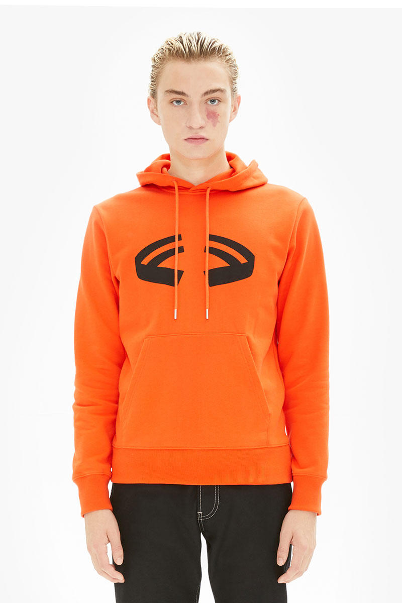 Helmut Lang Halloween Capsule Fall Winter 2018 T shirt Hoodie Black Orange