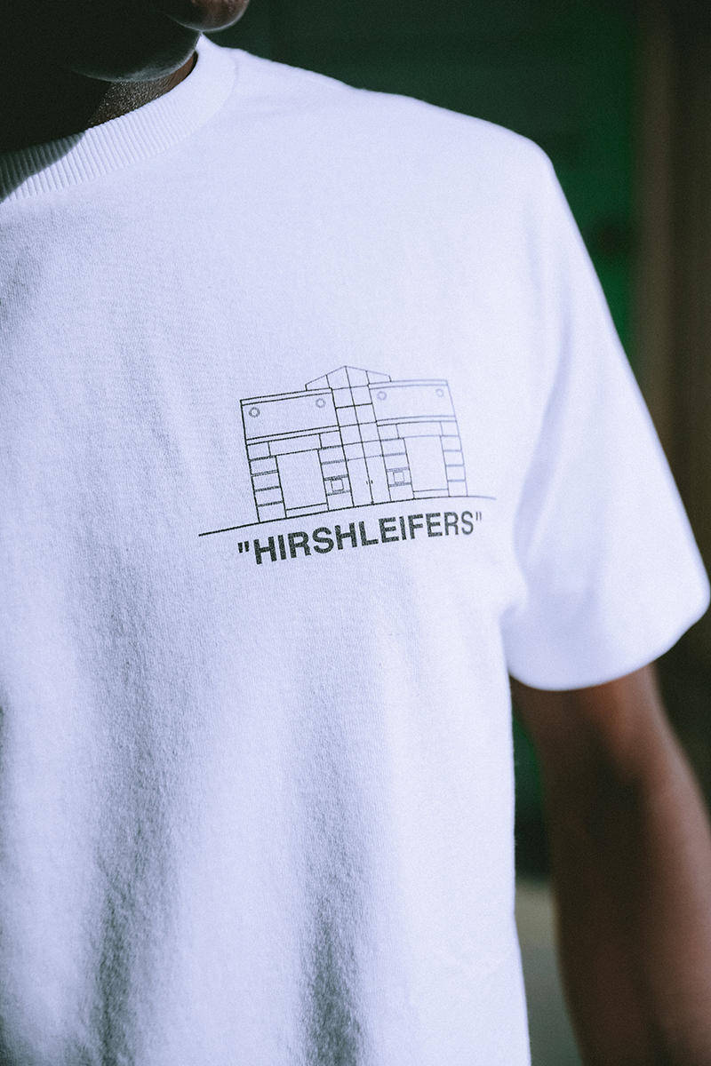 Hirshleifers off white bedroom capsule collection collaboration drop release date info exclusive menswear womens new york