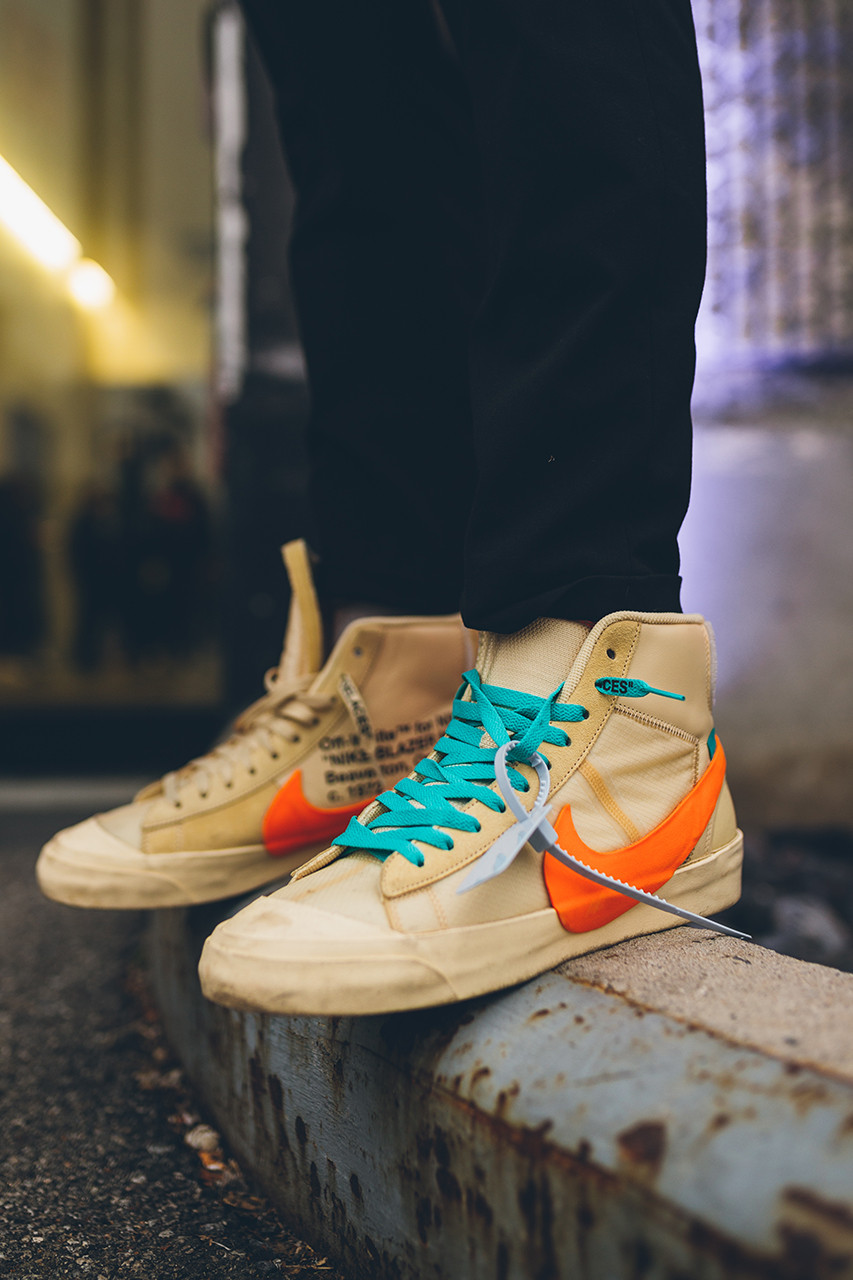 sneakers on