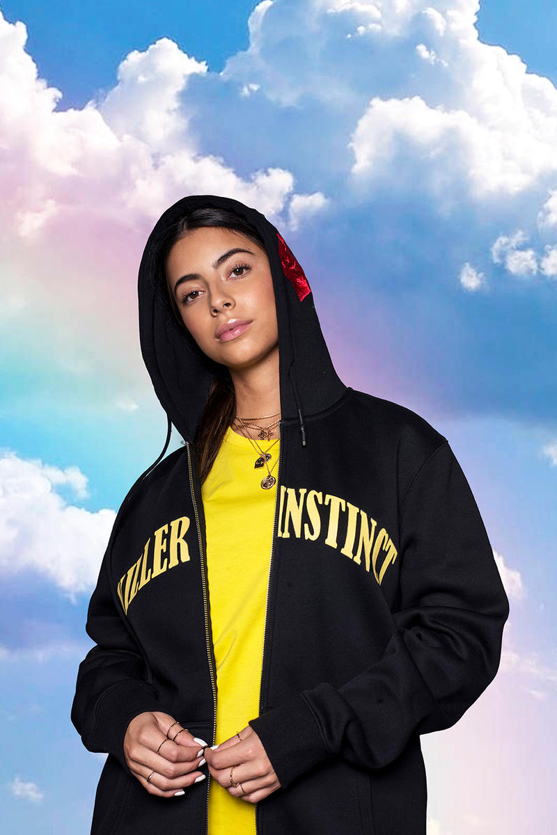 In Gold We Trust Spring Summer 2019 Lookbook Amsterdam Streetwear Clouds Killer Instinct tee t shirt hoodie track pants killer instinct pullover quilted jacket jeans socks sweatshirt bag