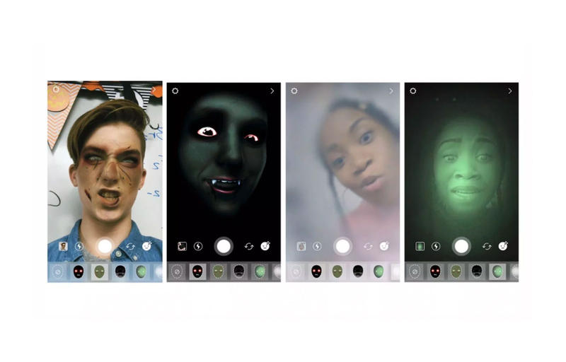 Instagram Drops Special Halloween Features apps filters zombie vampire bat pumpkin ghost Superzoom