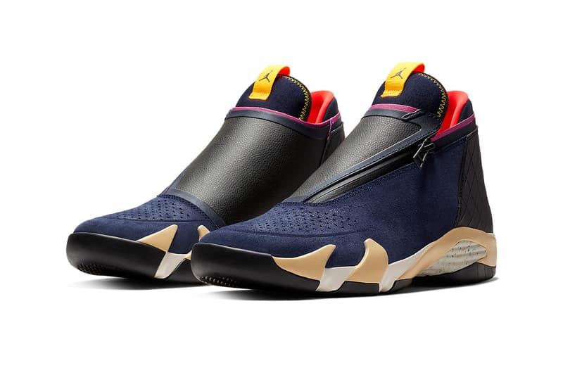 Jordan Jumpman Z Black/Red, White/Purple, Navy colorways release date info price sneaker jordan brand air jordan 14 zipper