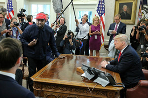Kanye West Meets President Donald Trump at the White House