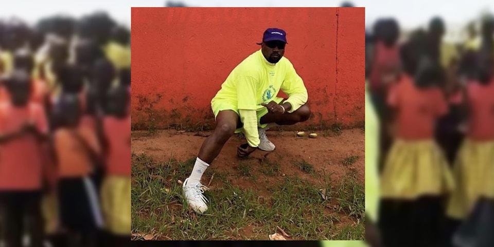 a64c78f6988 Kanye Gives YEEZY Boost 350 V2s to Ugandan Kids
