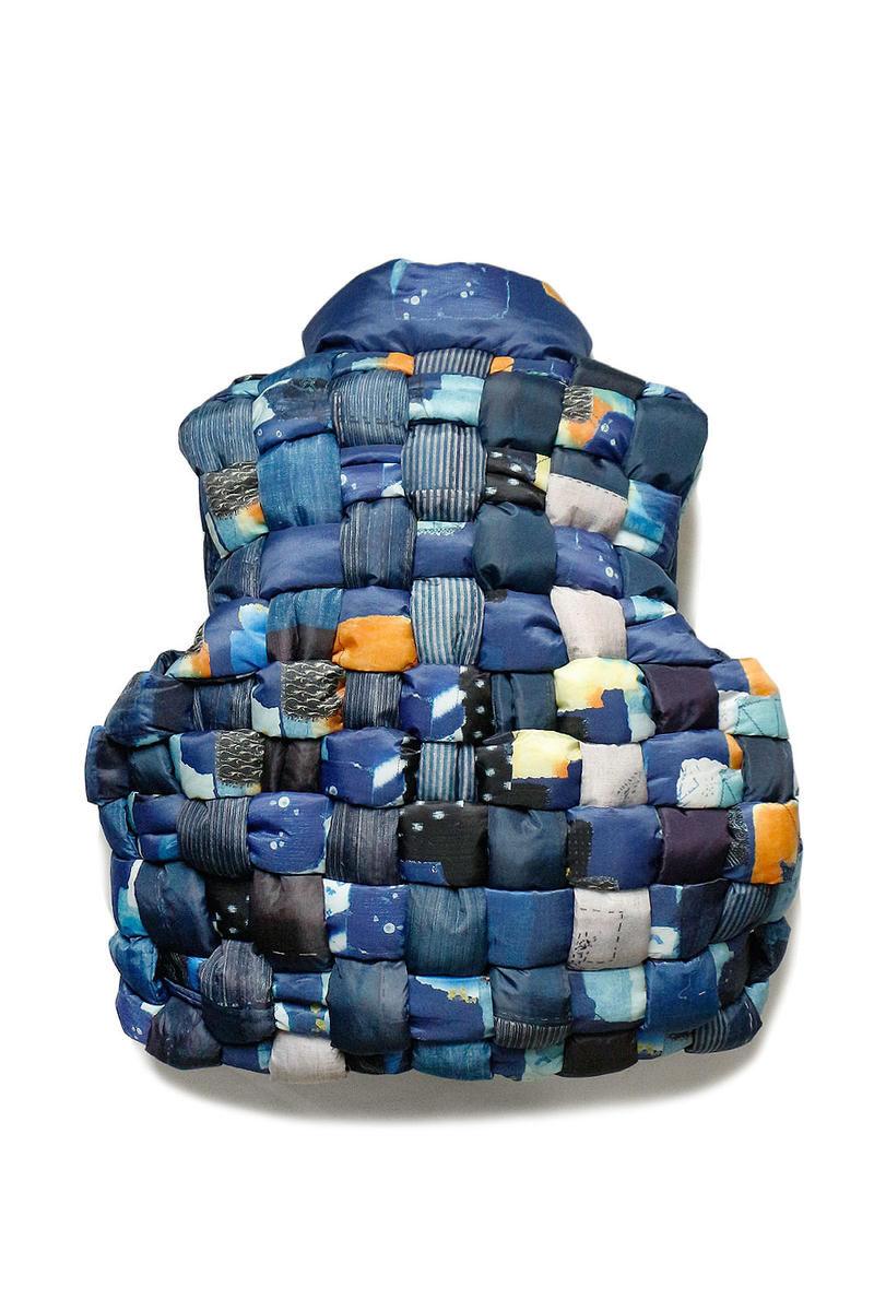 KAPITAL BORO Transcription Indigo Weaving Vest Release Jomon