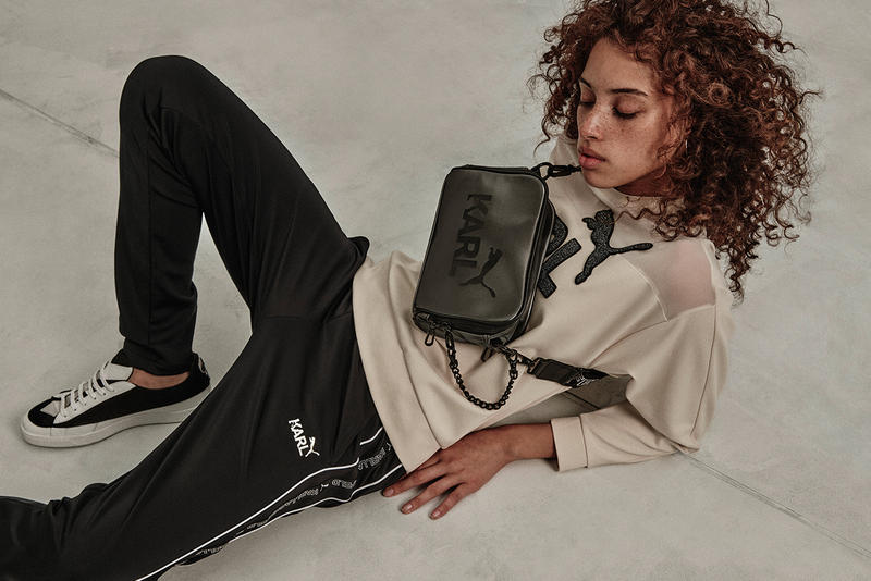Karl Lagerfeld PUMA Apparel Capsule tracksuit shirts bags cap track jacket joggers