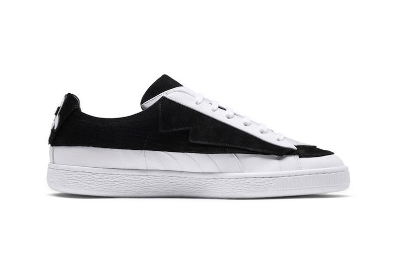 Karl Largefeld x Puma Suede Collab Release Date black suede leather metallic silver