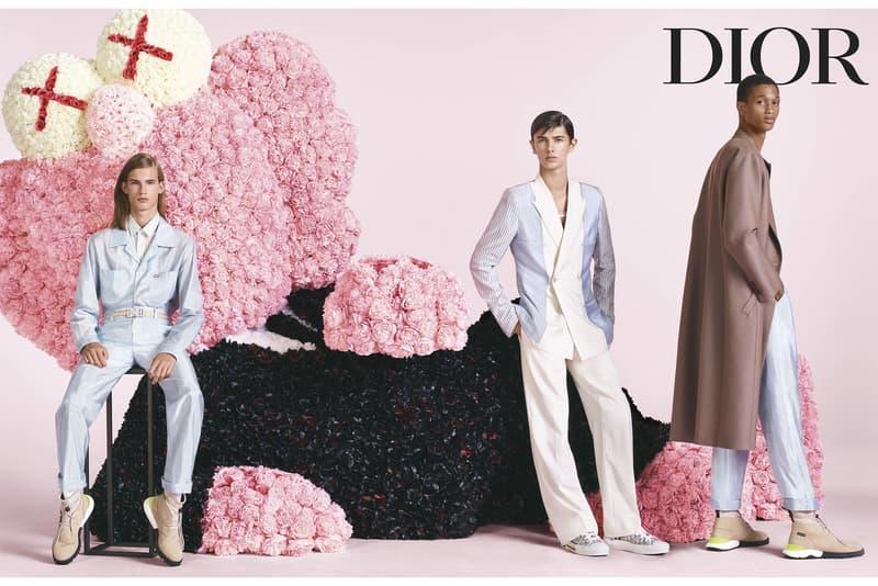 KAWS BFF Dior Homme Spring/Summer 2019 Campaign kim jones men's collection fashion designer sculpture pink