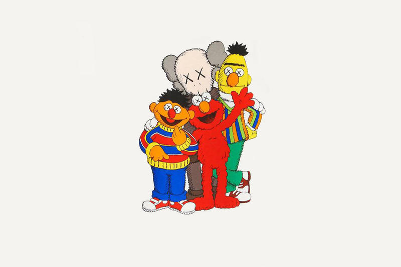 kaws ernie sesame street doll plush figure uniqlo ut collaboration release date drop info tease