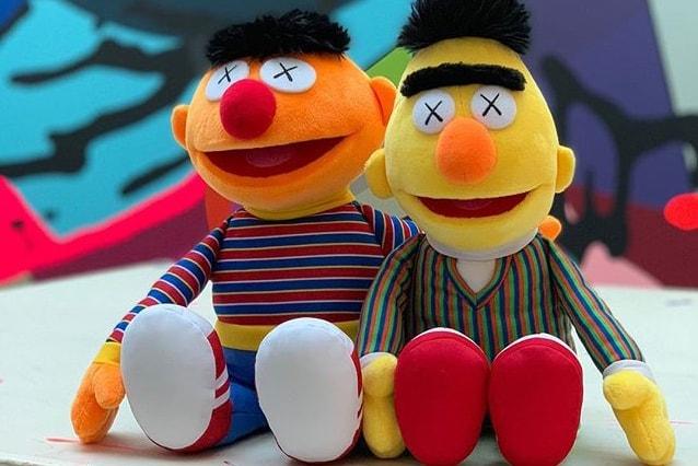 Kaws Teases Plush Of Ernie From Sesame Street Hypebeast