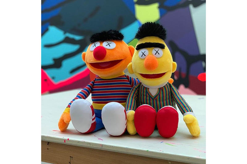 kaws bert ernie sesame street plushes collectibles