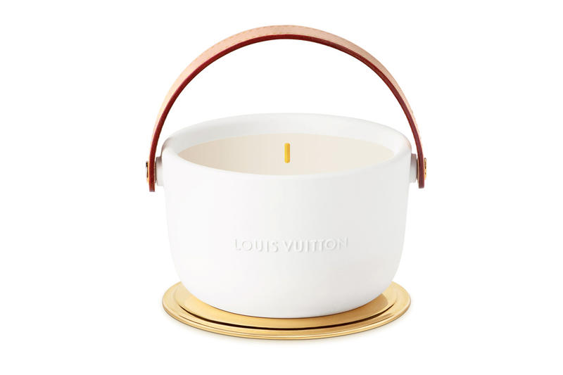Louis Vuitton Ceramic Candles By Marc Newson leather price fragrances scents master perfumer Jacques Cavallier Belletrud leather studs release date