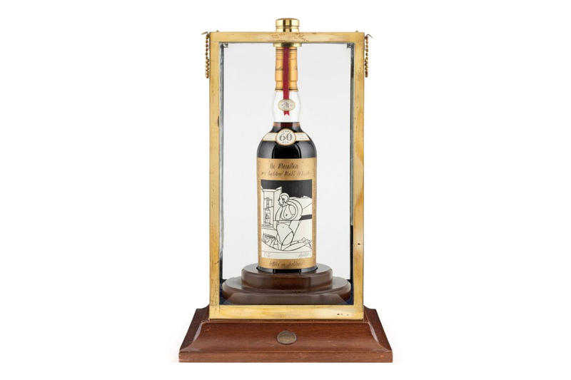 Macallan Valerio Adami bottle auction record price most expensive whiskey bonhams
