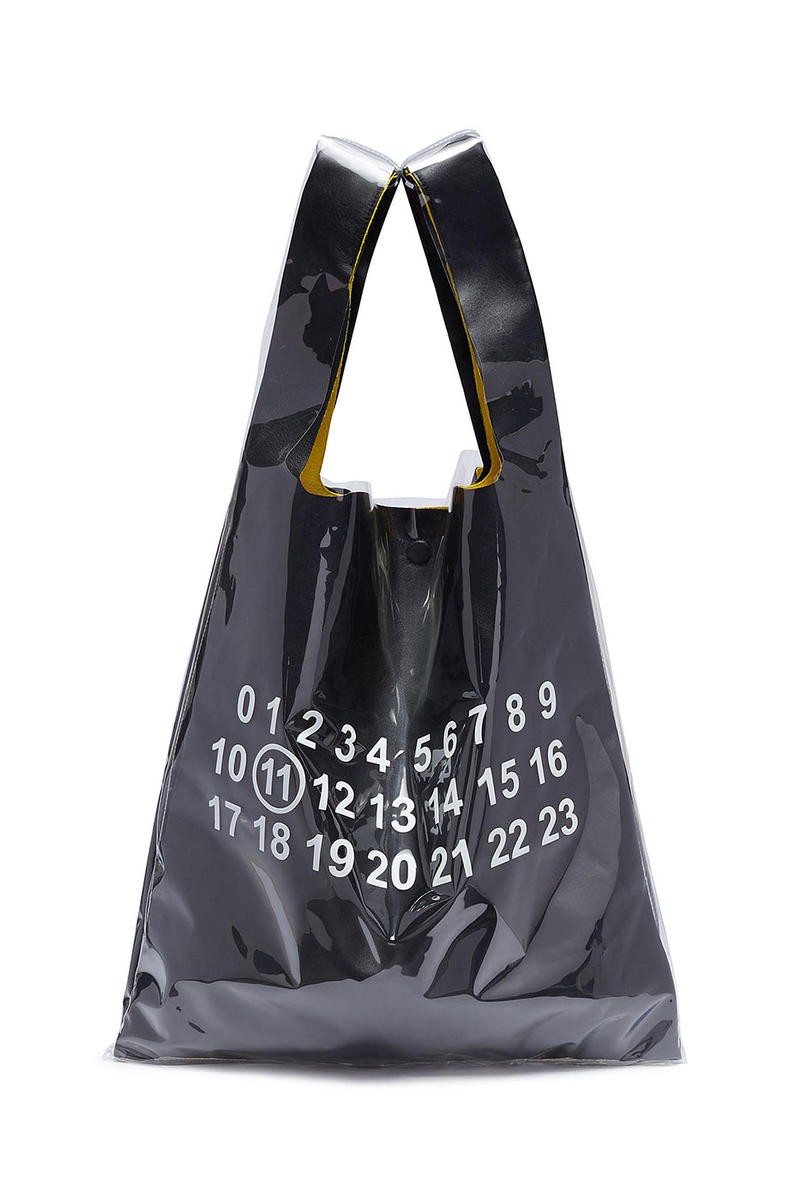 b090e068b3eac Maison Margiela PVC Coated Leather Tote Bag price purchase online black  dark beige accessories