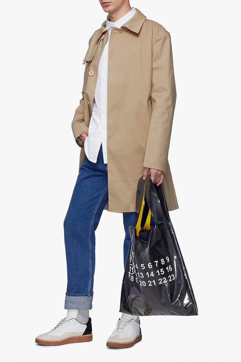 Maison Margiela PVC Coated Leather Tote Bag price purchase online black dark beige accessories