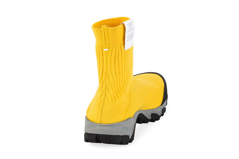 Maison Margiela Security High-Top Sock Runner Yellow release info sneaker vibram black