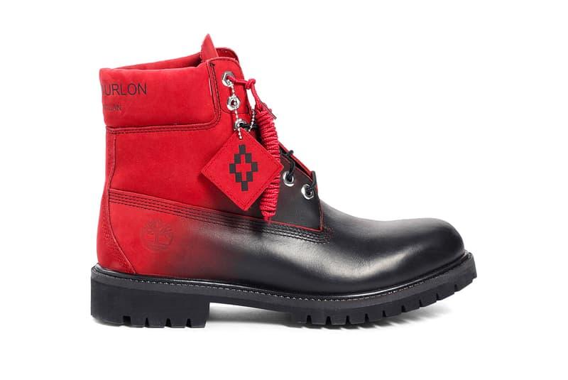 022b47b32cdf Marcelo Burlon Timberland Boot Black Red fall winter 2018 release info  milan fashion week