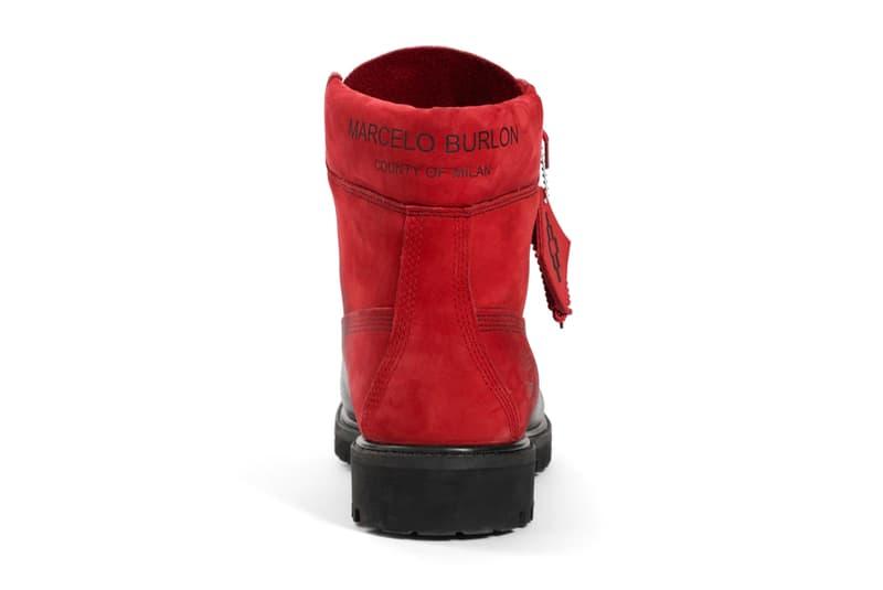 Marcelo Burlon Timberland Boot Black Red fall winter 2018 release info milan fashion week