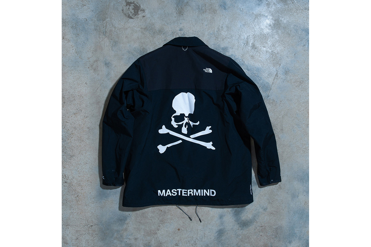 mastermind japan world the north face Urban Exploration collaboration collection drop release date lookbook nuptse glove coaches jacket skull puffer down hat cap pants october 13 2018 release date info drop buy closer look HYPEBEAST
