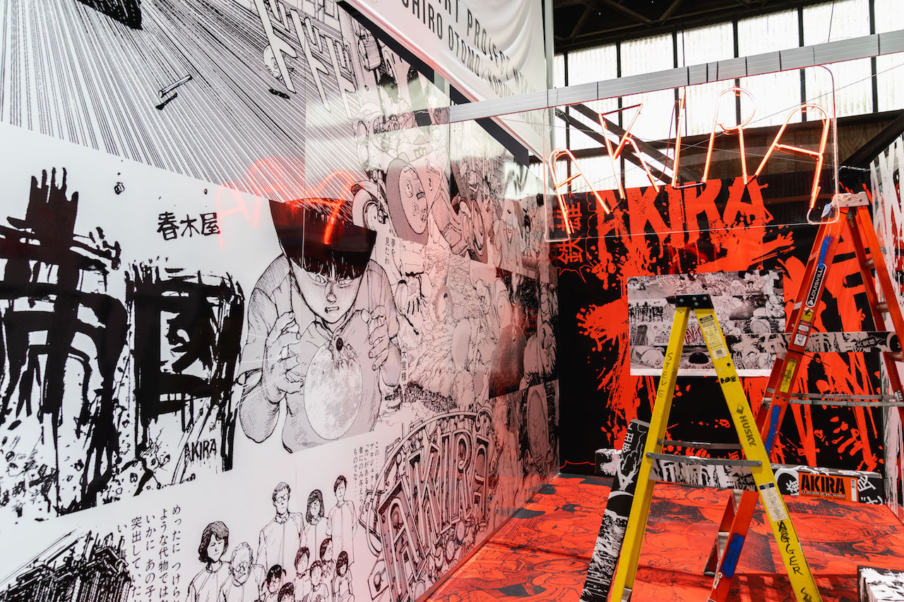 katsuhiro otomo kosuke kawamura akira art project tyo nyc hypefest interview anime manga artworks kanye west collaborations posters murals installations