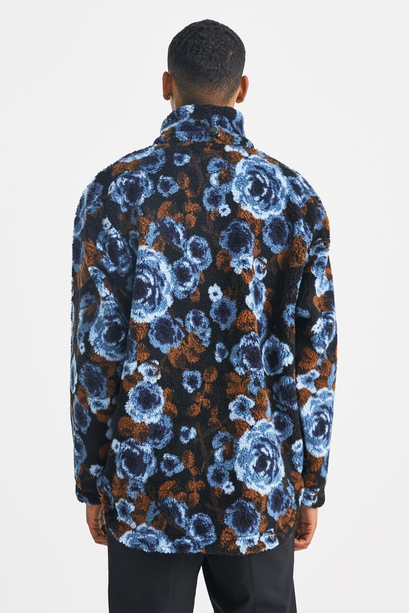 Napa by Martine Rose T-Emin Jacquard Jacket fall winter 2018 blue brown release info