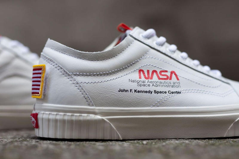 a03f68f87b8 NASA Vans Old Skool Release info Date White American Flag Shuttle Mission Space  Voyager