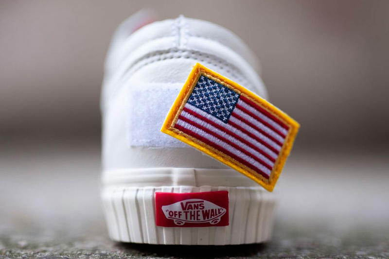NASA Vans Old Skool Release info Date White American Flag Shuttle Mission Space Voyager